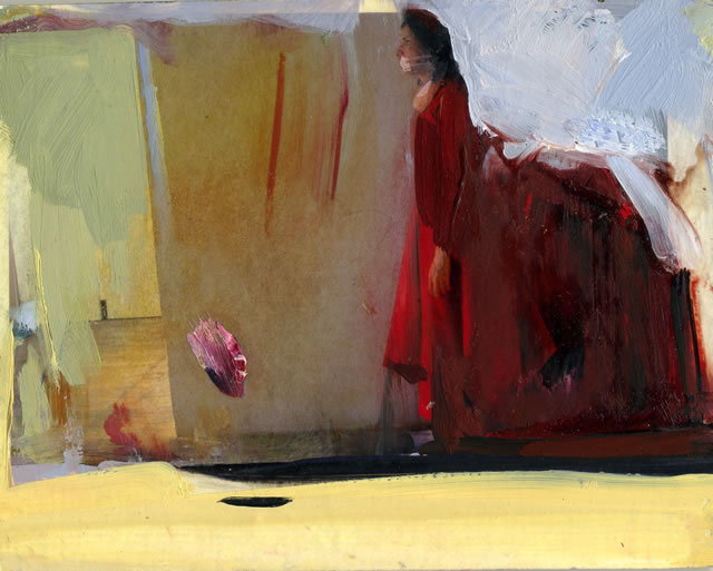 Final Red oil on board 15x18cm