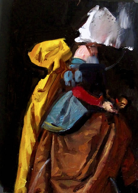 This Mortal Dress oil on board 15x10cm